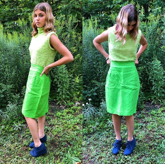 Lime Green Skirt