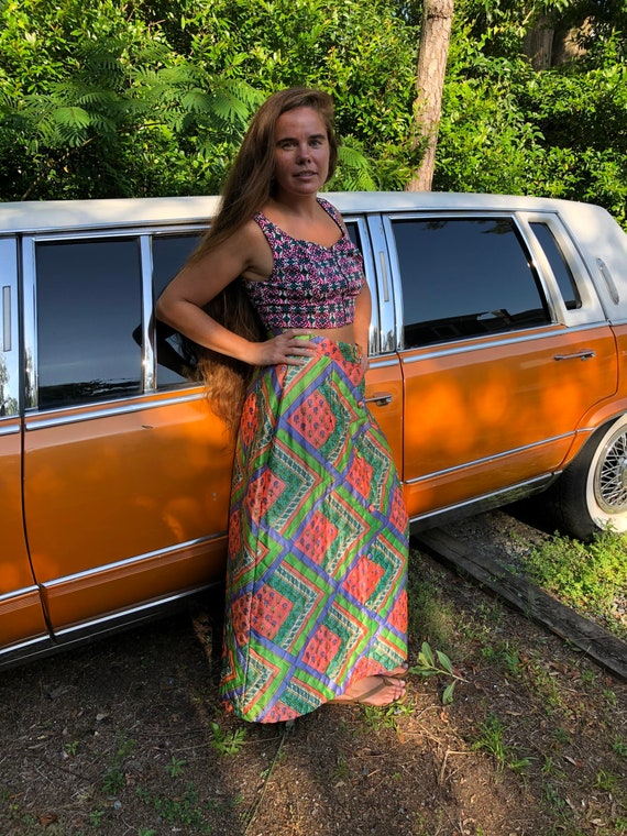 Vintage quilted skirt - image 1