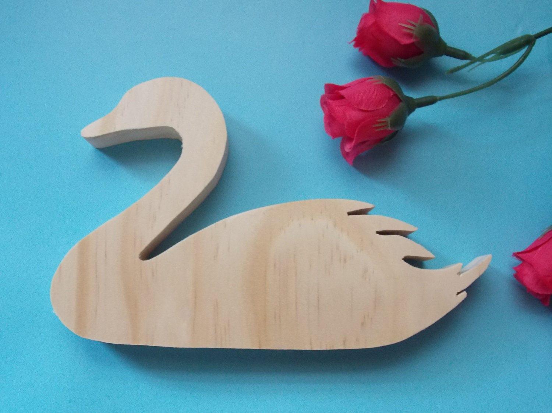 Swan Unfinished DIY Wood Decoration