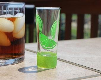 Lime Shot Glass // Fun Shot Glass // Glitter Shot Glass