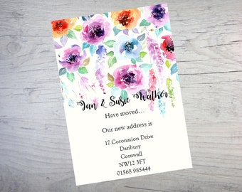 Personalised handmade Change of Address New Home House Moving Cards AC37
