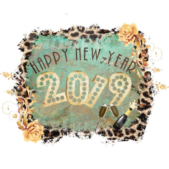 Happy New Year 2019 Png Instant Download Sublimation Etsy