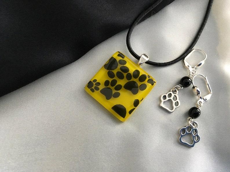 Paw Print Jewelry Set