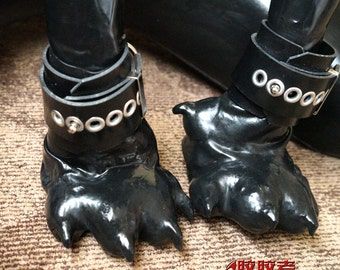 Latex dog paws no handcuffs