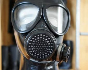 Latex Gas Mask with side valve
