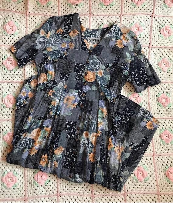 1990s patchwork maxi dress