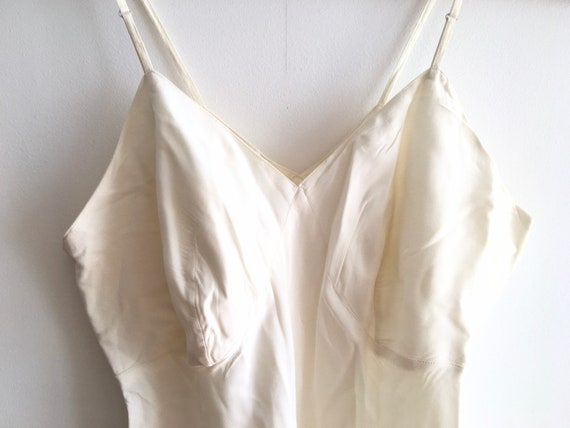 Vintage 40s cream silk playsuit / teddy