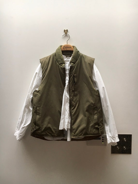 Vintage 90s Calvin Klein khaki puffed vest