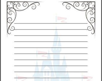 Fairy Tale Writing Paper Template A4 Cinderella Disney Themed Story Frame KS1 Large Line Spaces Primary School