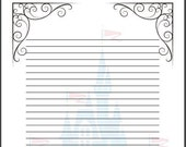 fairy tale writing paper template a4 cinderella disney themed story writing frame