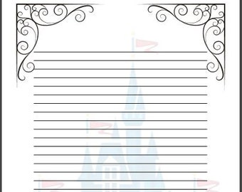 fairy tale writing paper template a4 cinderella disney themed story writing frame ks2 small line spaces primary school writing paper