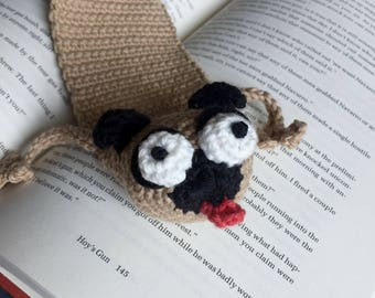 The Ugly Pugly Crocheted Bookmark | New Wacky Bookmark Listing For 2018 | Dog Lover Gift | Pugalicious Book Lover Gift | Library Essential