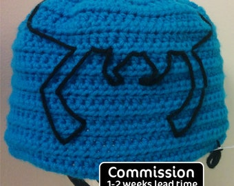 PRE-ORDER COMMISSION: Blue Beetle Hat / Beanie / Ted Kord / Crochet