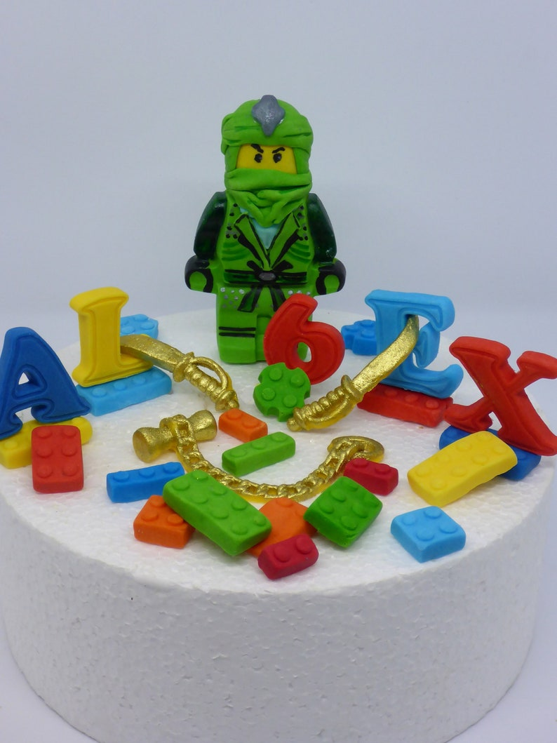 LEGO NINJAGO LLOYD Edible Birthday Cake Topper Decoration