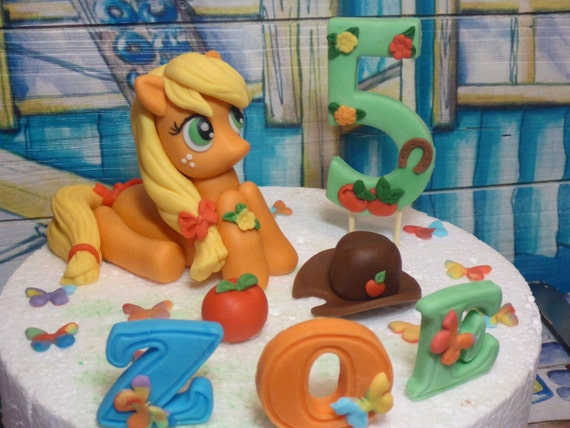 My Little Pony Applejack Handmade Cake Topper Etsy