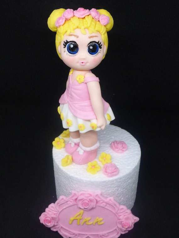 Large Lol Surprise Doll Flower Child Edible Handmade Birthday Etsy