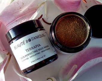 TERRAPIA - Skin Perfecting Mud Mask - Detoxify, Exfoliate, Brighten!
