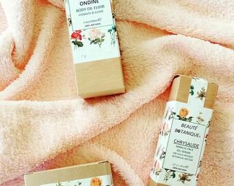 """SAVE 20%! Skin Care Set of """"Chrysalide"""" Face Nectar, """"Face Pommade"""" Cell Regenerating Balm & """"Ondine"""" Body Oil Elixir"""