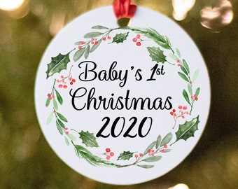 Baby's First Christmas Ornament, Personalized Ornament, Baby Gift, Baby Ornament, Christmas Decor, Christmas Ornament, Baby's 1st Christmas