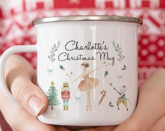 Personalized Holiday Gift - Christmas Mug - Nutcracker - Hot Chocolate Mug - Christmas Gift For Kids - Personalized Gifts - Kid Mug - Ballet
