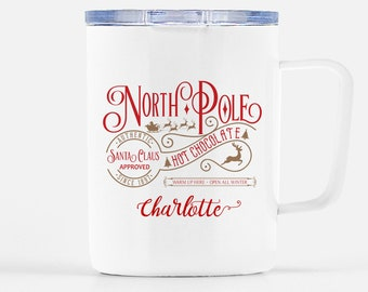 Christmas Mug for Kids - North Pole Mug - Personalized Gift For Kids - Polar Express Mug - Hot Cocoa Mug - Christmas Gift - Cup for Kids