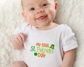 My First St. Patrick's Day - Baby - Kids St. Patrick's Day Shirt - St. Paddy's Shirt - St. Patty's - Onepiece - Shirt - First St Patty's