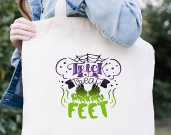 Trick or Treat Bags, Personalized Halloween Bag, Halloween Candy Bags, Trick or Treat Smell My Feet, Halloween Treat Bags for Kids, For Boys