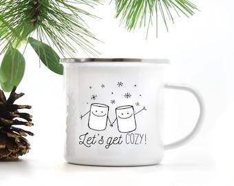 Let's Get Cozy Campfire Mug
