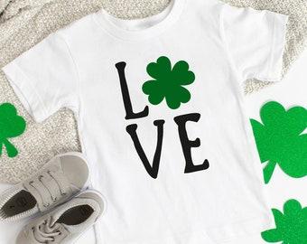 Kids St. Patrick's Day Shirt - St. Paddy's Shirt - St. Patty's - Love Shamrock Shirt - Toddler Shirt - Baby - Tees - Matching Outfits