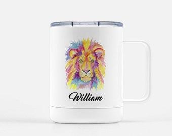 Gift for Kids - Lion Mug - Kids Hot Chocolate Mug - Christmas Mug - Personalized Cup - Christmas Gift - Hot Cocoa Mug - Personalized Gift