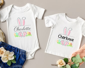 Kids Easter Shirt - Personalized Shirt - Easter - Monogrammed Shirt - Baby Shirts - Toddler Shirts - Easter Gift - Easter Basket - Bunny