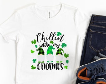 Kids St. Patrick's Day Shirt - St. Paddy's Shirt - St. Patty's - Chillin with my Gnomies - Toddler Shirt - Baby - Tees - Matching Outfit