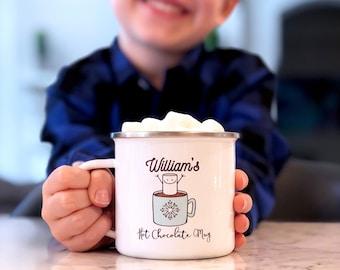 Kids Hot Chocolate Mug - Holiday Decor - Kids Christmas Mug - Personalized Mug - Christmas Gift for Kids - Cocoa Mug - Personalized Gift