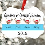 Grandma Ornament - Personalized Ornament - Grandmother Christmas Ornament - Grandma Grandpa Gift - Grandma's Reindeer - Christmas Decor