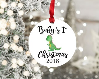Dinosaur Baby's First Christmas Ornament