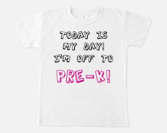 First Day of Preschool - First Day of School Shirt - FIrst Day of Pre-K Shirt - Back to school - First day photo prop - Preschool Shirt