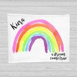 Rainbow Baby Blanket - Baby Milestone Blanket - Rainbow Baby Gift - Monthly Baby Blanket - Age Blanket - Personalized Baby Blanket - Girl