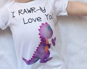 Girl Dinosaur Shirt - Girl shirt - Dinosaurs - Girls One-piece - Shirts - Top - Gifts for Girls -Newborn Gift - Baby Shower Gift - Dino gift