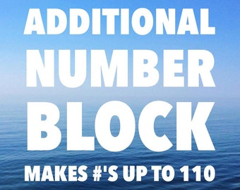 Additional Number Block - Custom Baby Milestone Blocks - Personalized Baby Blocks - Pregnancy Tracker - Bump Pictures - Baby Shower Gift