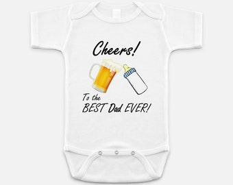 New Dad Gift - Best Dad Ever Shirt - Baby Announcement - Shirt for Dads - Gifts for Dad - Baby Onepiece - Dad Gift - Pregnancy Annoucement