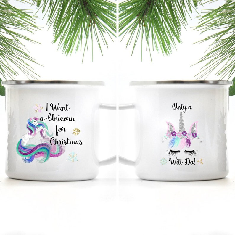 Unicorn Mug  I Want a Unicorn For Christmas  Gift for image 0