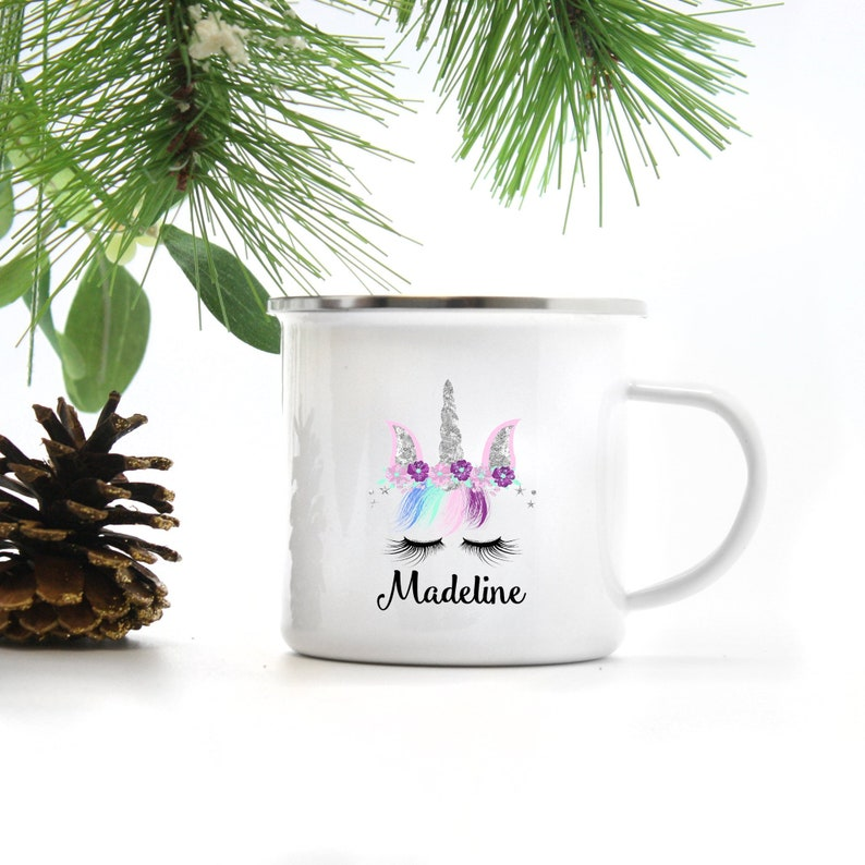 Unicorn Mug  Kids Hot Chocolate Mug  Kids Christmas Mug  image 0