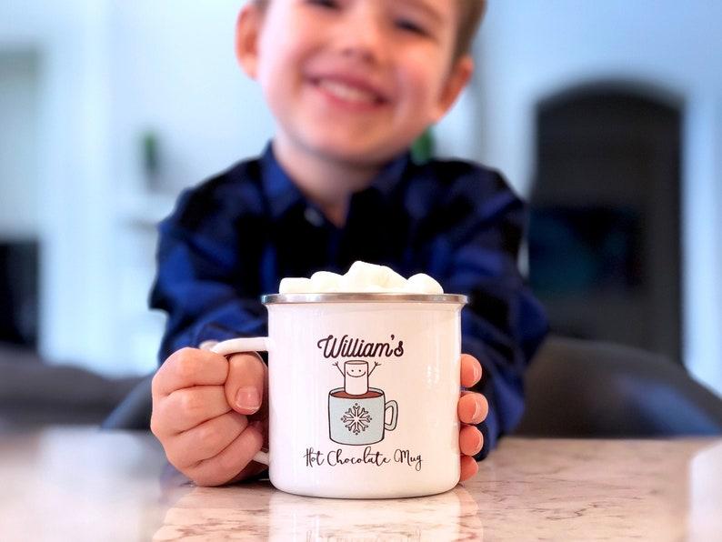 Kids Hot Chocolate Mug  Holiday Decor  Kids Christmas Mug  image 0