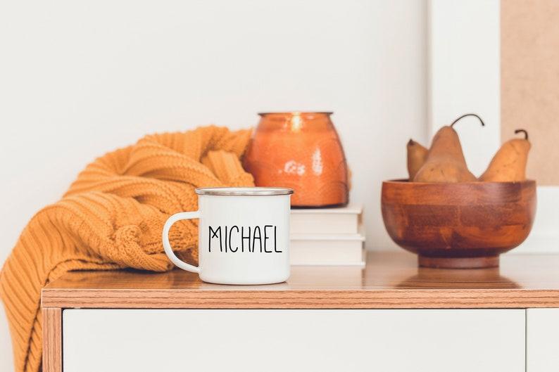 Personalized Mug  Modern Christmas  Minimalist Mug  Gift image 0