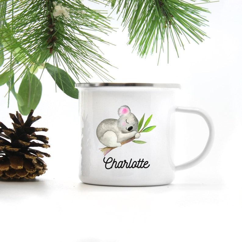 Kids Mug  Kids Gift  Girls Hot Chocolate Mug  Personalized image 0