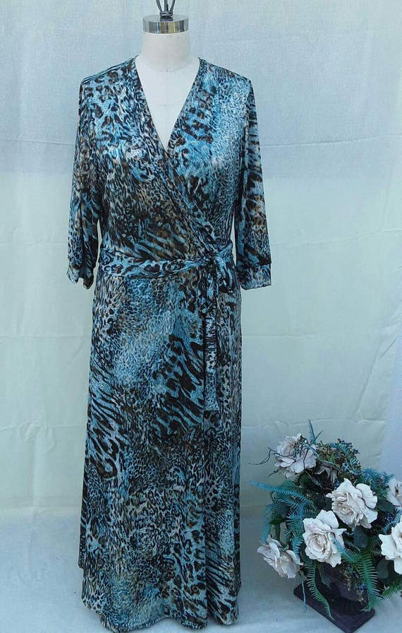 Womens Plus size Wrap dress 1x 2x 3x 4x 5x 6x plus size women fashion t