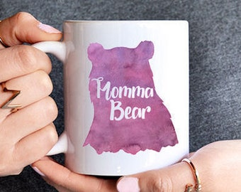 Momma Bear - Mothers Day - Mothers Day Gift - Gift For Mom - mug - mama bear mug - watercolor mug - mom mug - bear - gift for her - mom gift