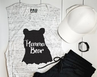 Momma Bear Tank Top - Mothers Day - Mothers Day Gift - Gift For Mom - Mom Shirt - Momma Bear - Momma Bear Tee - Gift for Her - Work Out Tank