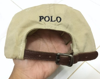 Polo Ralph Lauren Small Pony Cap Hat Leather Adjustable 624409285d6