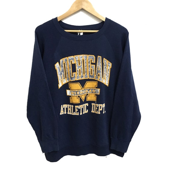 RARE!!! Vintage MICHIGAN Athletic Sportswear Big L